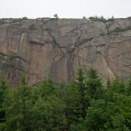 Svaneberget crag in Bohuslän