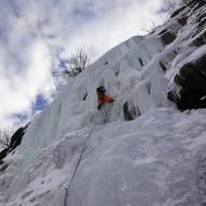 Ice climbing at the Cremerie Chamonix