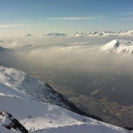 The temperature inversion in winter keeps the smog in the valley