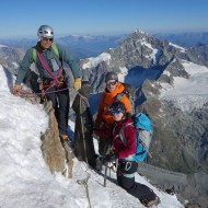 On the Matterhorn with Dent Blanche behind