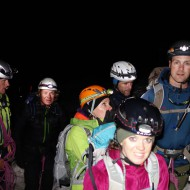 Everyone prepared for the big day, starting from Hornli hut at 3:30 am