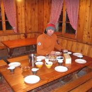Ross enjoying his breakfast