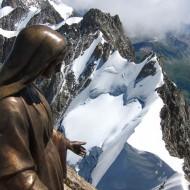 Rochefort ridge seen from summit of Dent du Geant