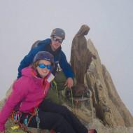 Summit of Dent du Geant, day 2 on the Matterhorn course