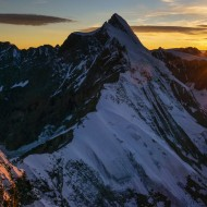 Dent d'Herens in the sunset