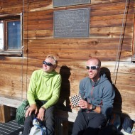 Mike and Morgan at Rifugio Carell