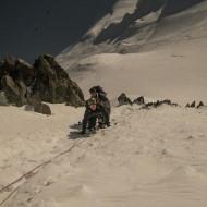 Approaching Col de Maudit