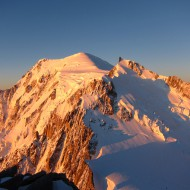 Views from Mt Blanc du Tacul of the rest of today's climb