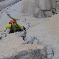 East Face of Charlatan, climbing Fancy Free (5.10)