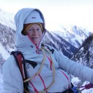 Happy ice climber