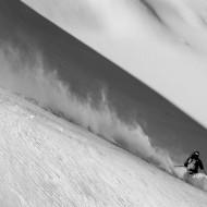 Guillaume setting off down glacier de Tour
