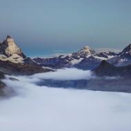 Still above the clouds admiring Matterhorn