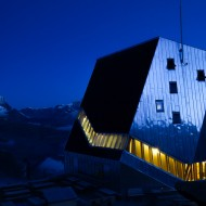 Monte Rosa Hut, one of the most moderns refuges in the Alps