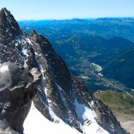 We join the Virgin on the summit of Grepon. Night and day she's watching over Chamonix.