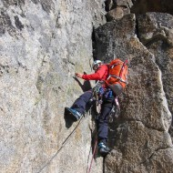 On the main buttress the granite is of excellent quality, the climbing gets progressively harder