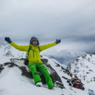 Happy mountain guide
