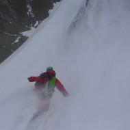 Couloir skiing Kagen