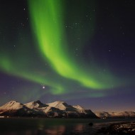 Aurora Borealis over Breivikeidet