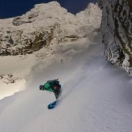 Isskartindane couloir skiing