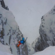 Going into Oskehugget couloir