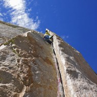3rd pitch of Don Juan Wall, Sorcerer east face