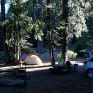 Camp at the end of Needles Spring Road