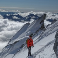 Getting up on the south ridge of Tour Ronde