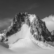 North face of Tour Ronde with its south ridge on the left skyline