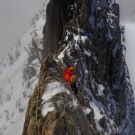 Some fresh snow on the Traverse of Aiguille d'Entreves