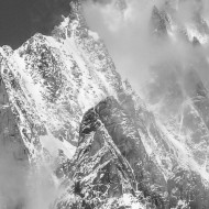 Views of Grand Capucin and the east face of Mt Blanc du Tacul
