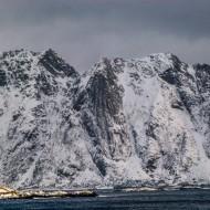 Lofoten wild mountains