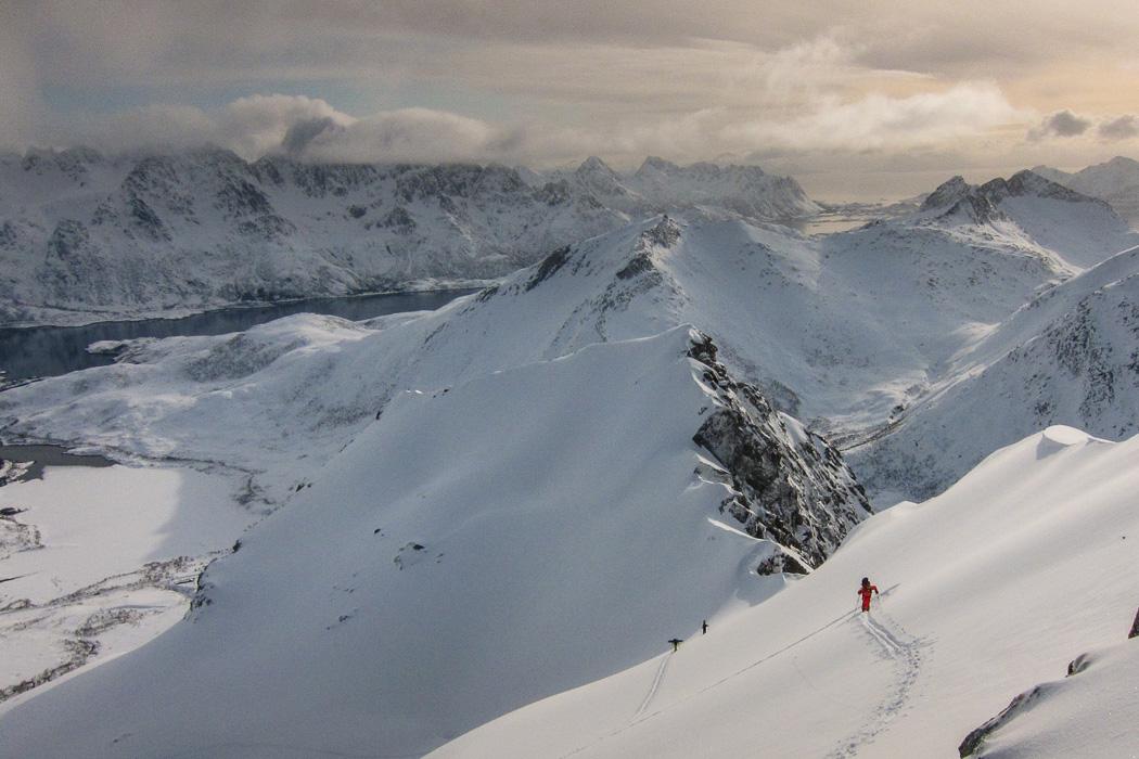 Lofoten snowboarding