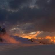 Aiguille du Midi at sunrise