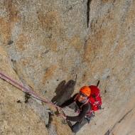 Cracks, slabs and dihedrals of orange granite