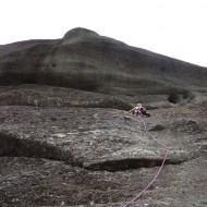 Vertical climbers trails in Meteora