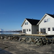 The twin houses we use as lodge in northern Lyngen