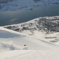 Couloir skiing - Ski and Sail Lyngen