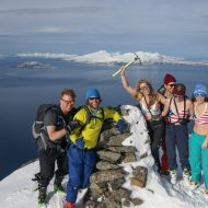 On the most northern summit in Lyngen.