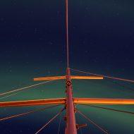 Aurora above the harbour