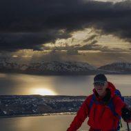 Evening ski tour in April