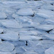Frozen harbour in March