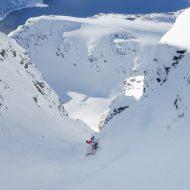 Ski touring in southern Lyngen Alps