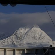 A happy welcome to Lyngen from the ferry