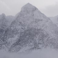 The steep faces of Lyngen Alps