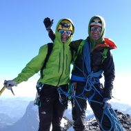 Alex and Wolfgang on the summit