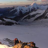 Monch east ridge - Aletschhorn in the back