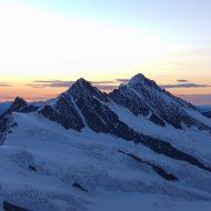 Fiescherhorn and sunrise